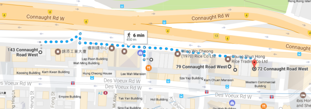 connaught road west map
