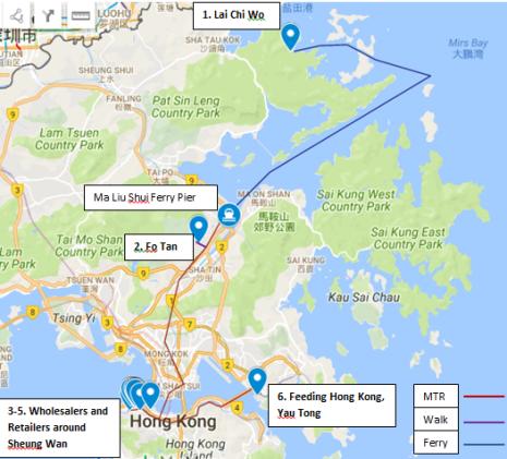 full map of tour