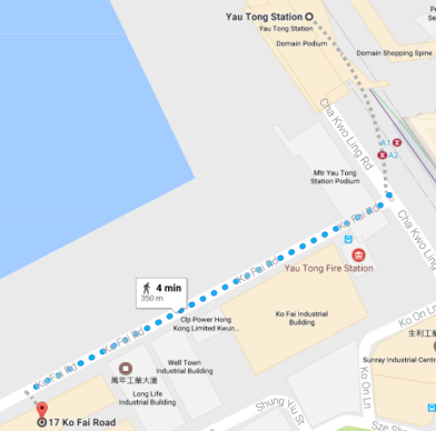 yau tong to FHK map