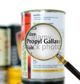 propyl-gallate-highlighted-in-nutrition-list-dorset-england-uk-fhpy3c