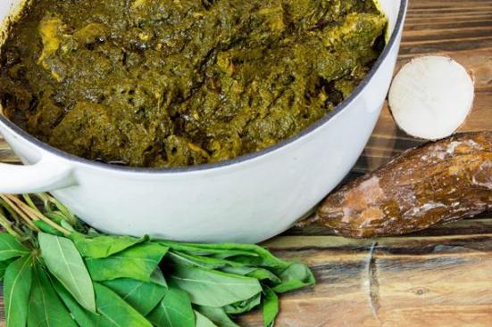 Cassava leaves stew