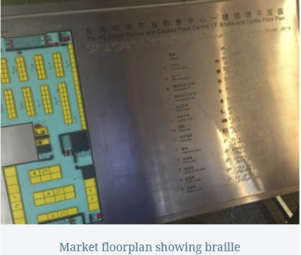 market floorplan showing braille