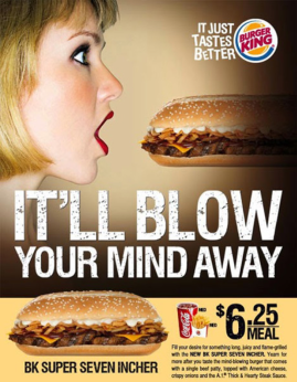burger advert