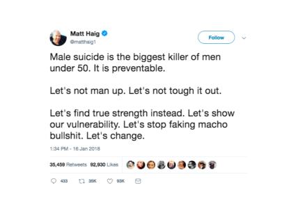 suicide tweet